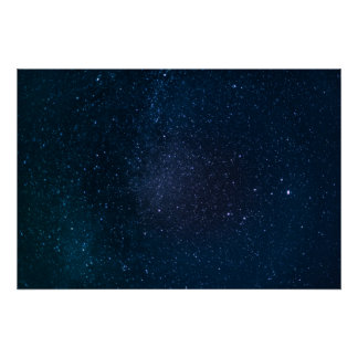 Stars night sky poster