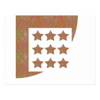 STARS Novino Signature style Pattern n Background Postcard