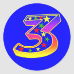 Stars Number 3 Stickers