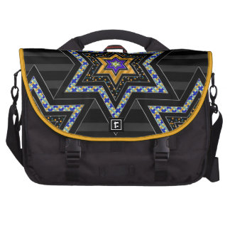 STARS of David and Stripes v1 (Personalized) Laptop Computer Bag