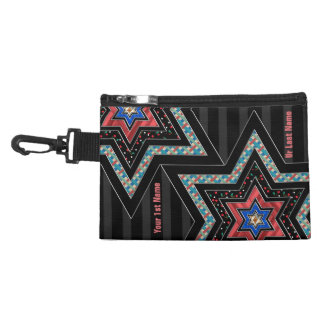 STARS of David and Stripes v2 (Personalized) Accessory Bag