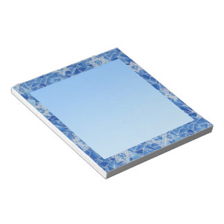 Stars of David Stained Glass Notepad