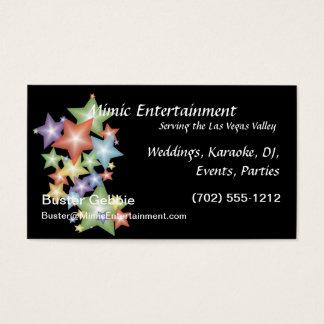 Stars on Black Background Business Card