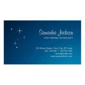 Stars On Blue business card