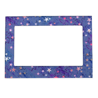 Stars on Blue Magnetic Picture Frame