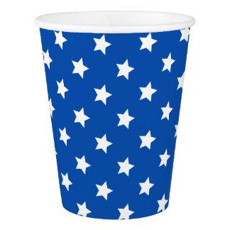 Stars on Blue Patriotic Paper Cups