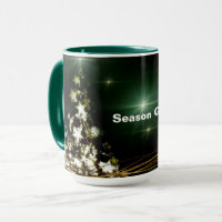Stars on Christmas Tree Night Sky Combo Mug
