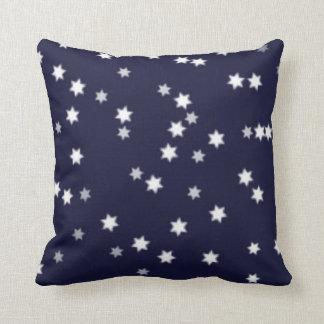 Stars on Dark Blue Pillows