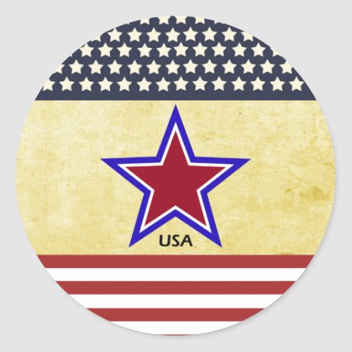 Stars on flag sticker