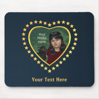 Stars on Midnight Blue: Add Own Photo Mouse Pad