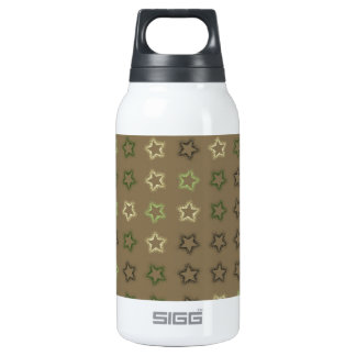 Stars on neutral background insulated water bottle