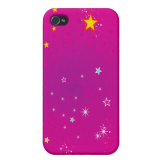 Stars on pink background iPhone 4/4S cover