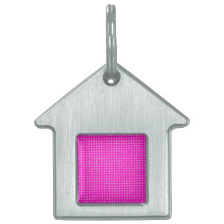 STARS ON PINK PET TAG