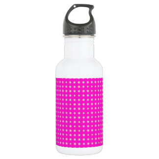 STARS ON PINK STAINLESS STEEL WATER BOTTLE