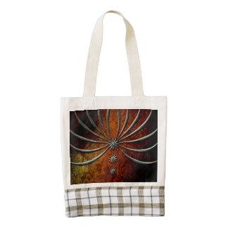 Stars on vintage background zazzle HEART tote bag
