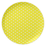 Stars on Yellow Dinner Plate