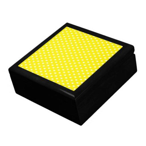 Stars on Yellow Trinket Box