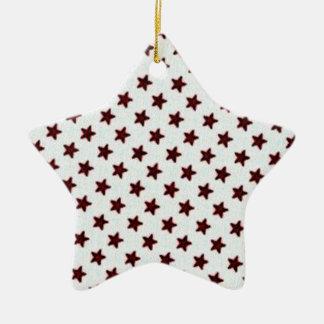 Stars Double-Sided Star Ceramic Christmas Ornament