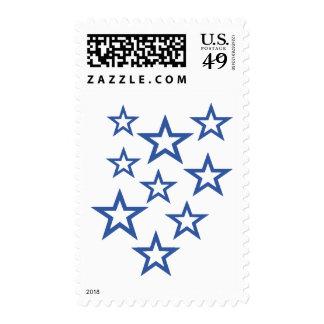 Stars outline postage stamp