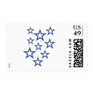 Stars outline stamp