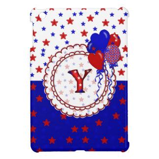 Stars-Patriotic Monogram Y iPad Mini iPad Mini Cover
