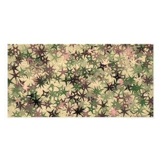 Stars Pattern in Camouflage Colors Card
