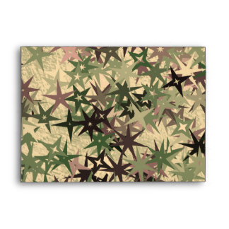 Stars Pattern in Camouflage Colors Envelope