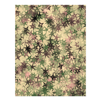 Stars Pattern in Camouflage Colors Flyer