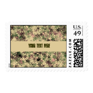 Stars Pattern in Camouflage Colors Postage