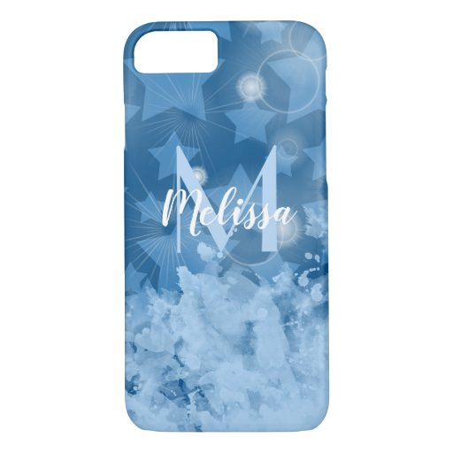 Stars pattern in classic blue Personalized iPhone 8/7 Case