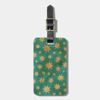 Stars pattern luggage tag