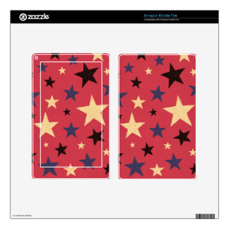 Stars Pattern Red Kindle Fire Decals