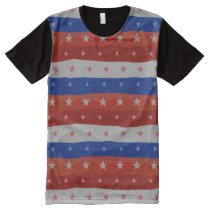 Stars Pattern USA All-Over-Print Shirt
