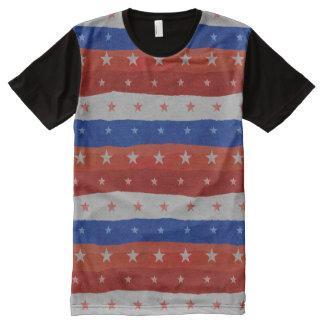 Stars Pattern USA All-Over-Print Shirt