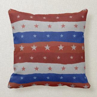 Stars Pattern USA Throw Pillow