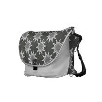 stars patterns messenger bag