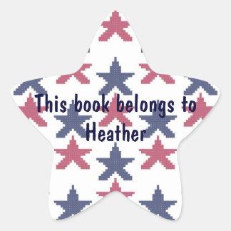 Stars Personalized Bookplate Star Sticker