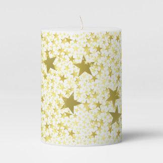 Stars Pillar Candle