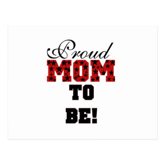 Stars Proud Mom to Be - Customized Postcard