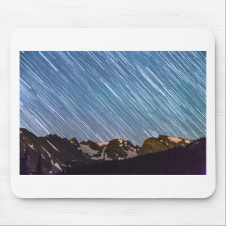 Stars Raining Down On The Colorado Indian Peaks Mouse Pad