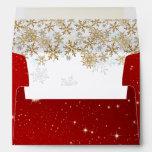 Stars Red A7 Christmas Envelopes