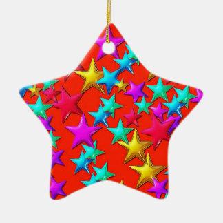 Stars Red Star Ornament