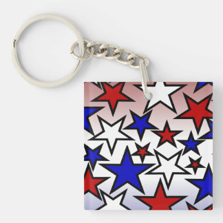 Stars (Red, White and Blue) Keychain