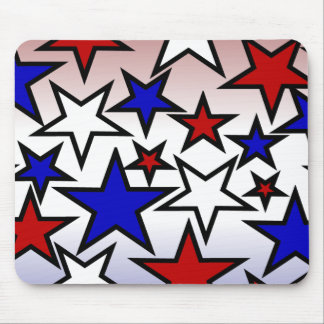 Stars (Red, White and Blue) Mouse Pad