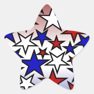 Stars (Red, White and Blue) Star Sticker