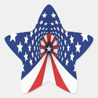 Stars Red White Blue USA Star Sticker