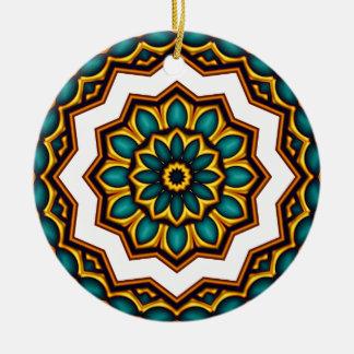 Stars rider Mandala Ceramic Ornament