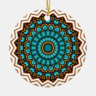 Stars rider Mandala motive Ceramic Ornament
