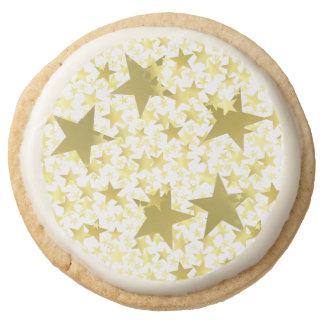 Stars Round Shortbread Cookie