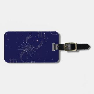 stars scorpio luggage tag
